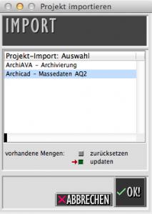 Massedaten aus Archicad 18 mittels ArchiQuant 2 in ArchiAVA 6 importieren