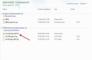 CAD Datentausch mit Projekt AQ2 im Windows Explorer